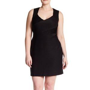 Eliza J sleeveless bustier sheath dress black